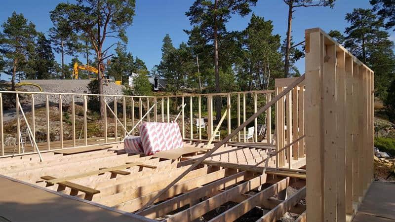 """Referensjobb """"Nyproduktion av sommarstuga i St:Annas skärgård."""" utfört av Johansson Byggteknik AB"""