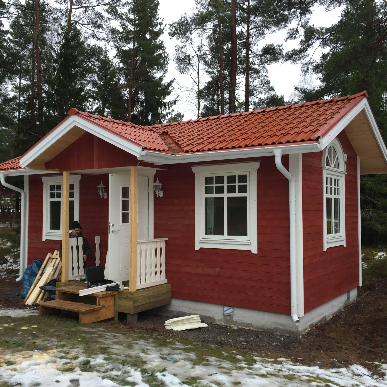 """Referensjobb """"Nybyggnad Attefallshus"""" utfört av BRUAB AB"""