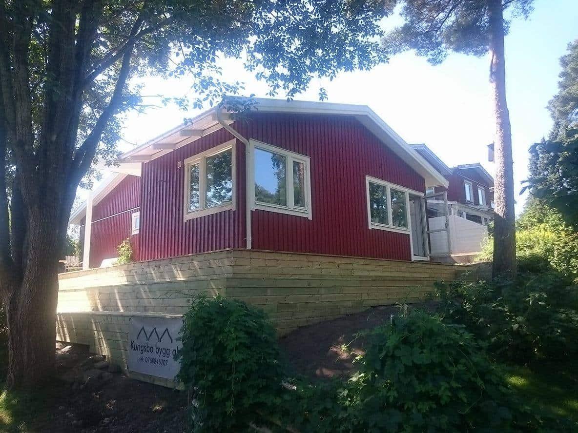 """Referensjobb """"Utbyggnad och altan Kungsbacka 2016"""" utfört av Kungs - Bo Bygg AB"""