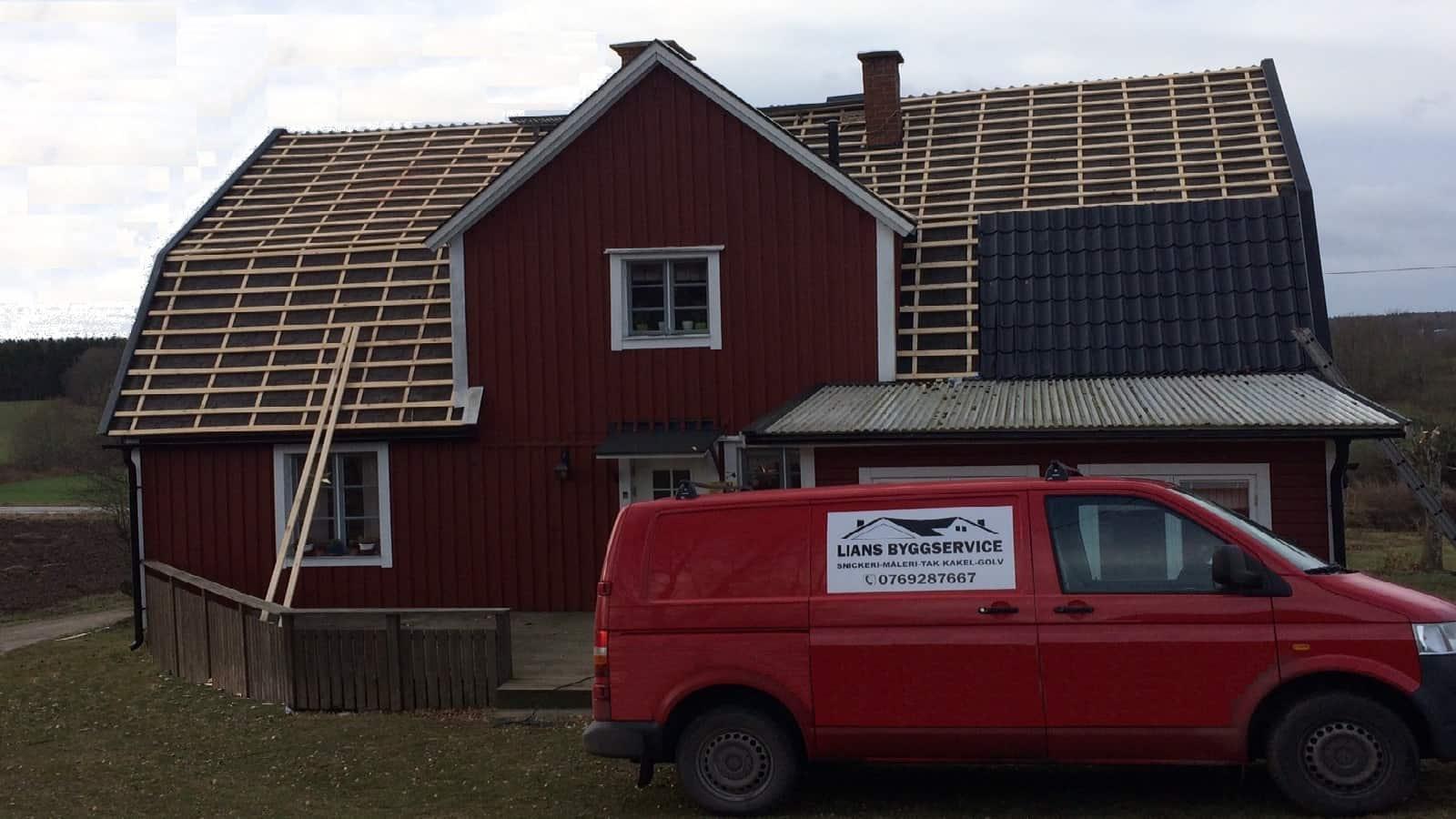"""Referensjobb """"takrenovering"""" utfört av LIANS BYGGSERVICE"""
