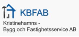 Logotyp för KBF Kristinehamns Bygg och Fastighetsservice