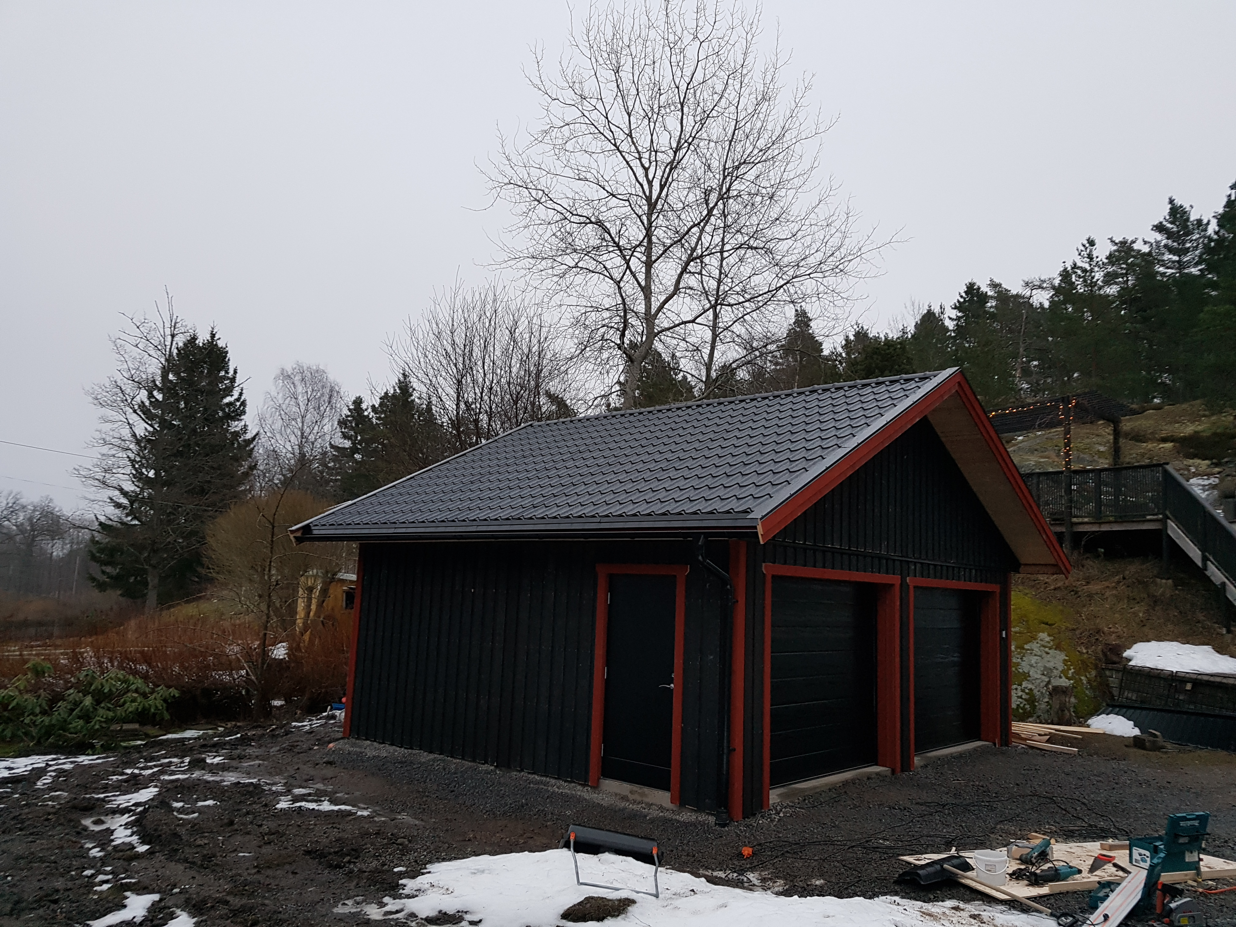 """Referensjobb """"Garage"""" utfört av Glas & Bygg i Borlänge AB"""