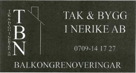 Logotyp för TAK O BYGG I NERIKE AB