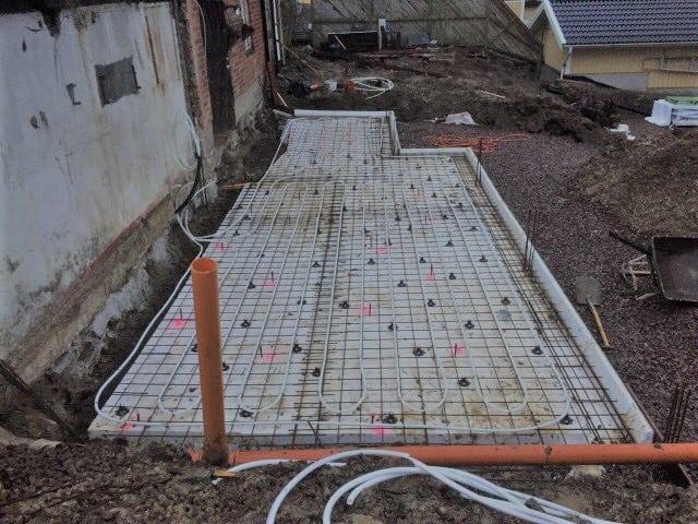 """Referensjobb """"platta på mark inkl golvvärme"""" utfört av Smartcon Byggservice AB"""