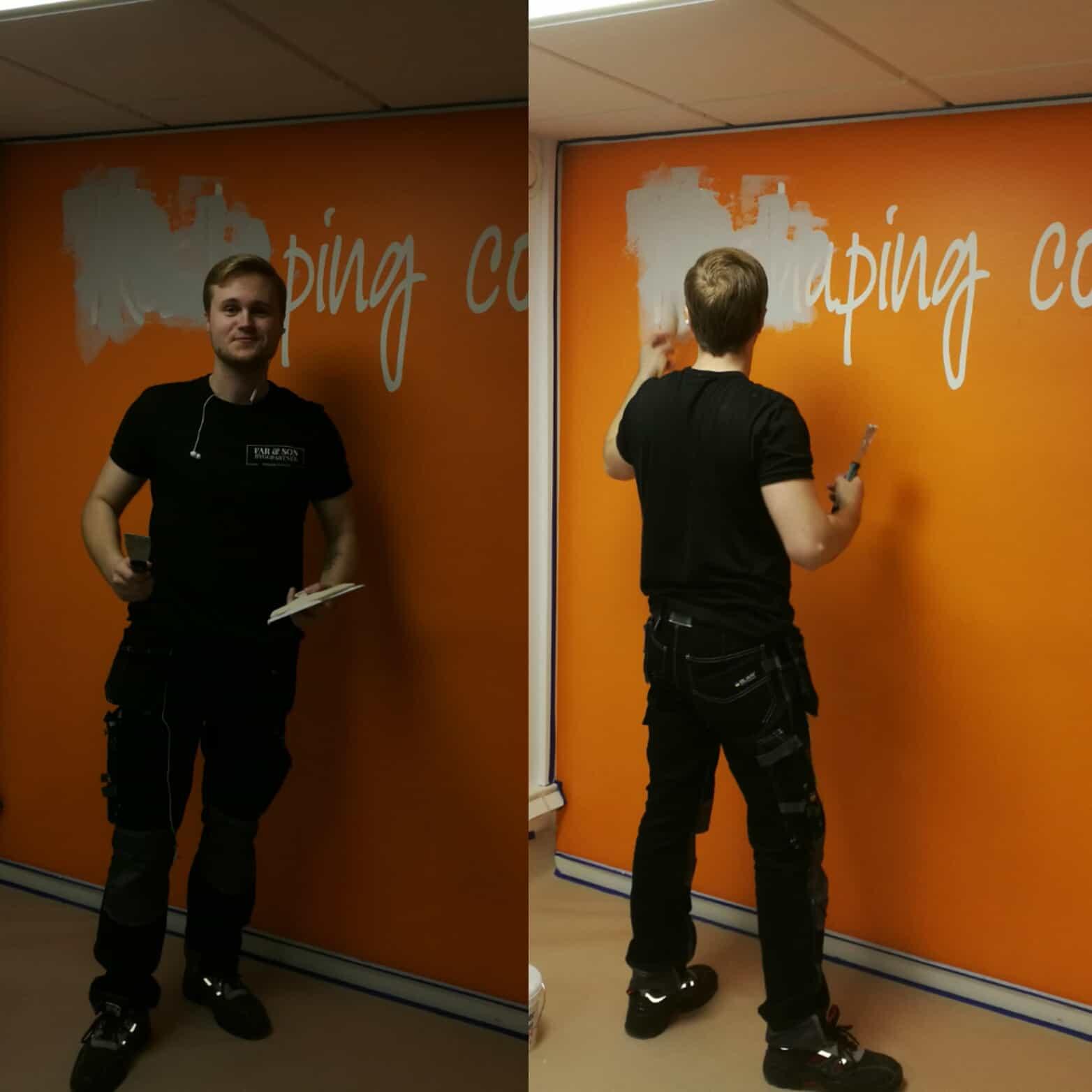 "Referensjobb ""Spackling/målning"" utfört av F & S Byggpartner AB"
