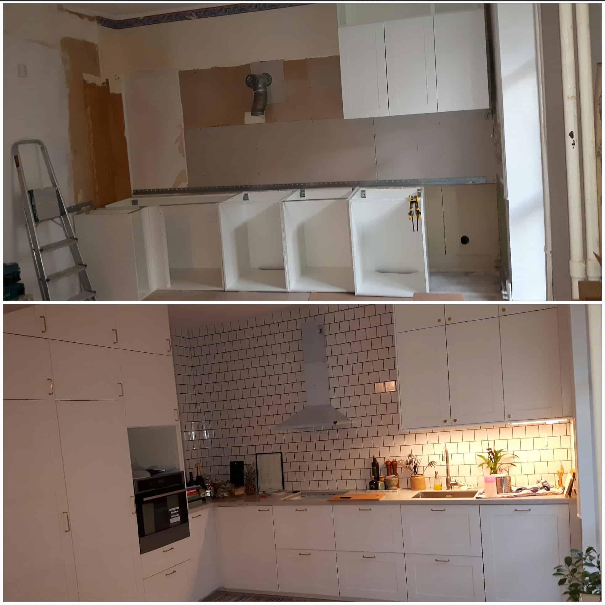 """Referensjobb """"Renovering av köket."""" utfört av Effektiv C&R AB"""