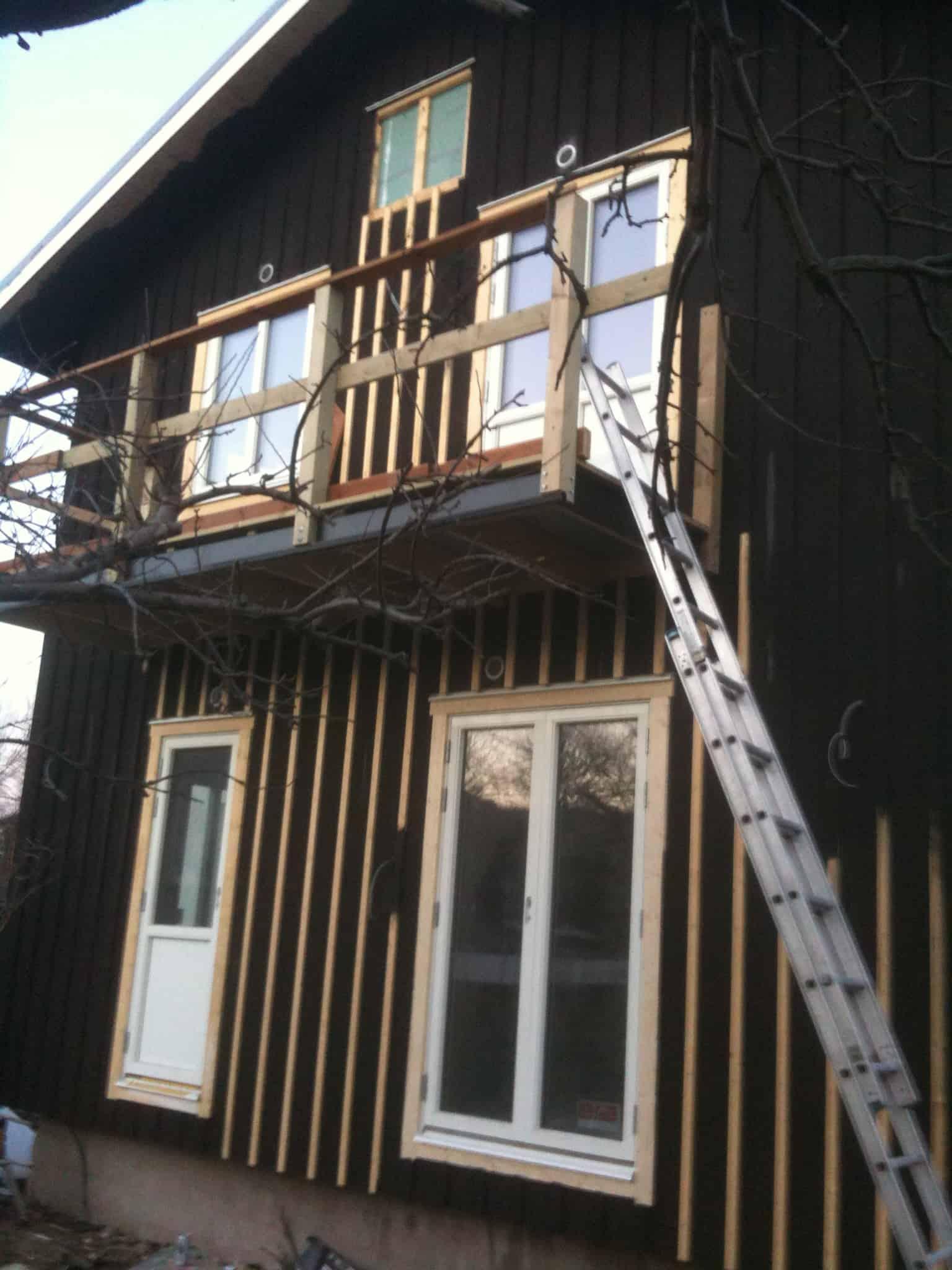 """Referensjobb """"utbyggnad med 60kvm av hus"""" utfört av LGK Bygg & Entreprenad"""