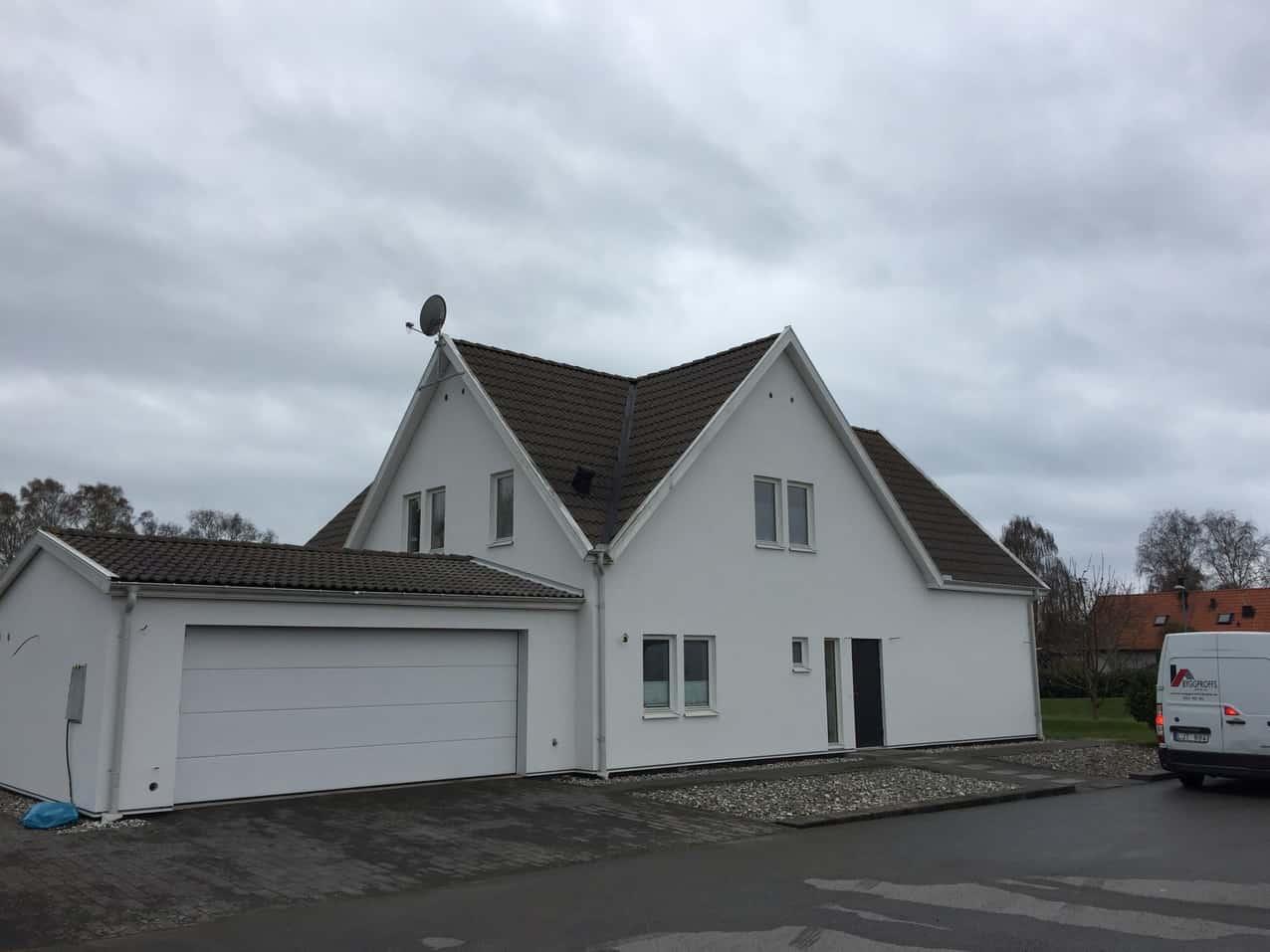 """Referensjobb """"fasadrenovering """" utfört av Byggproffs Skåne AB"""