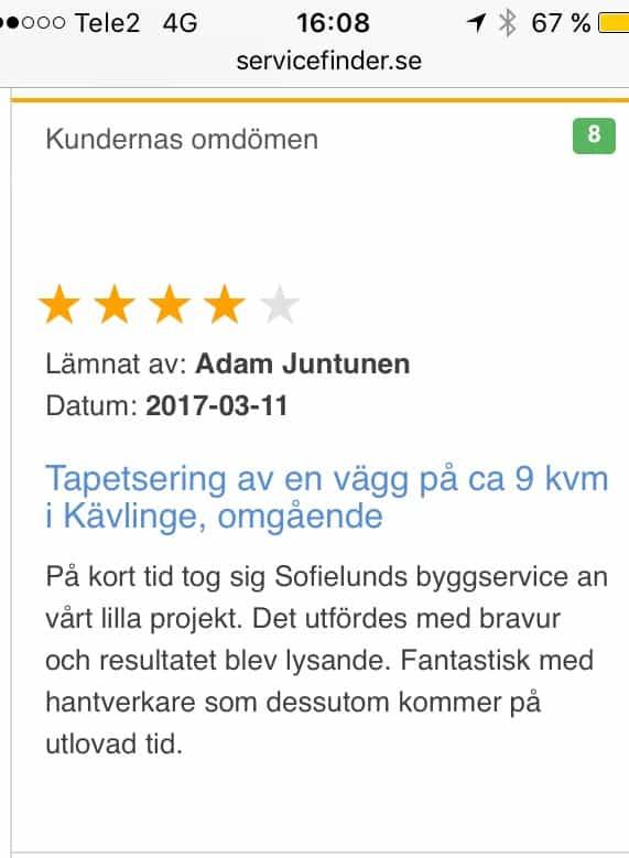 "Referensjobb ""Löddeköpinge"" utfört av Sofielunds Byggservice AB"