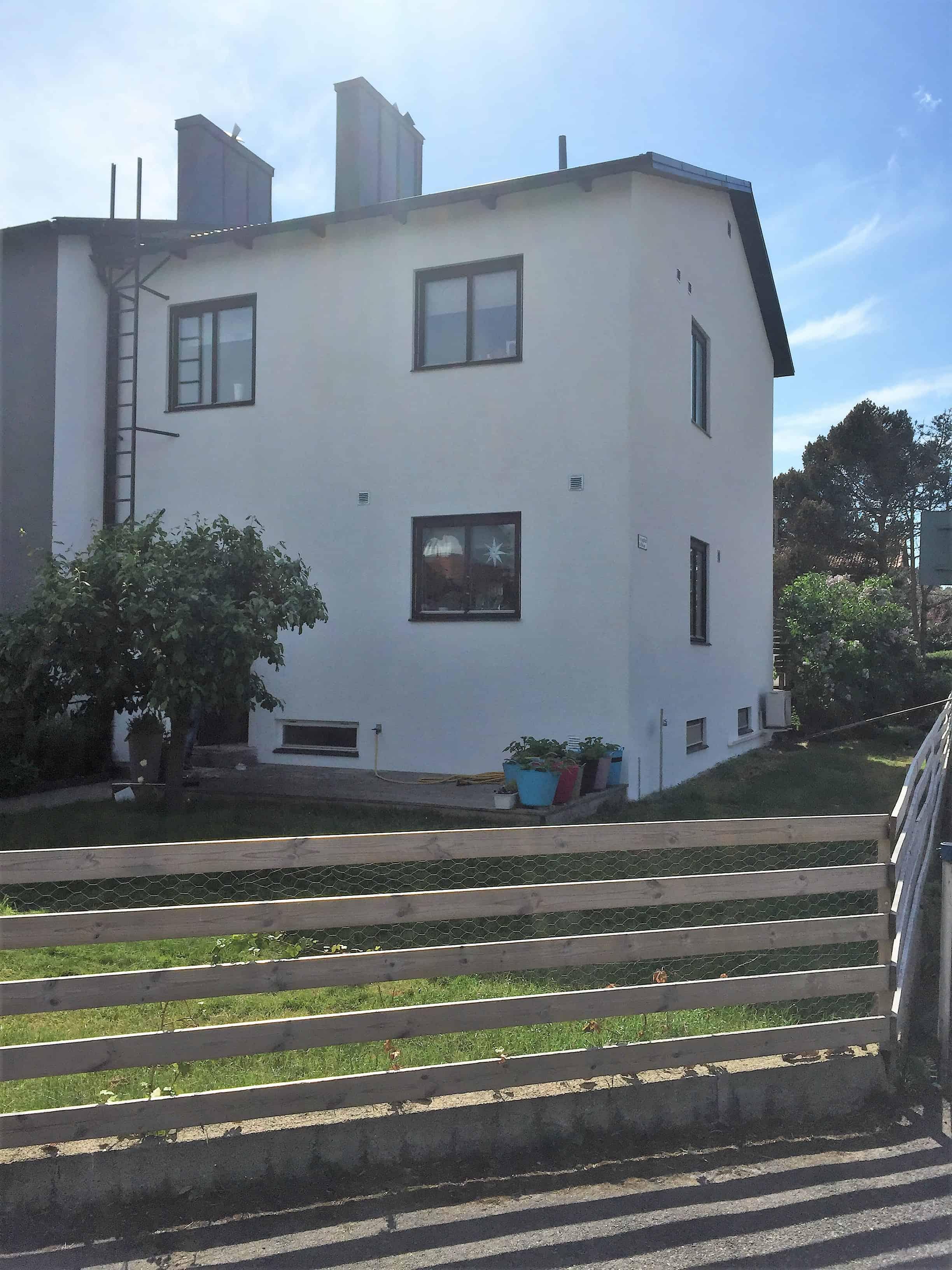 """Referensjobb """"Ny puts fasad."""" utfört av JRS Hantverkarna AB"""