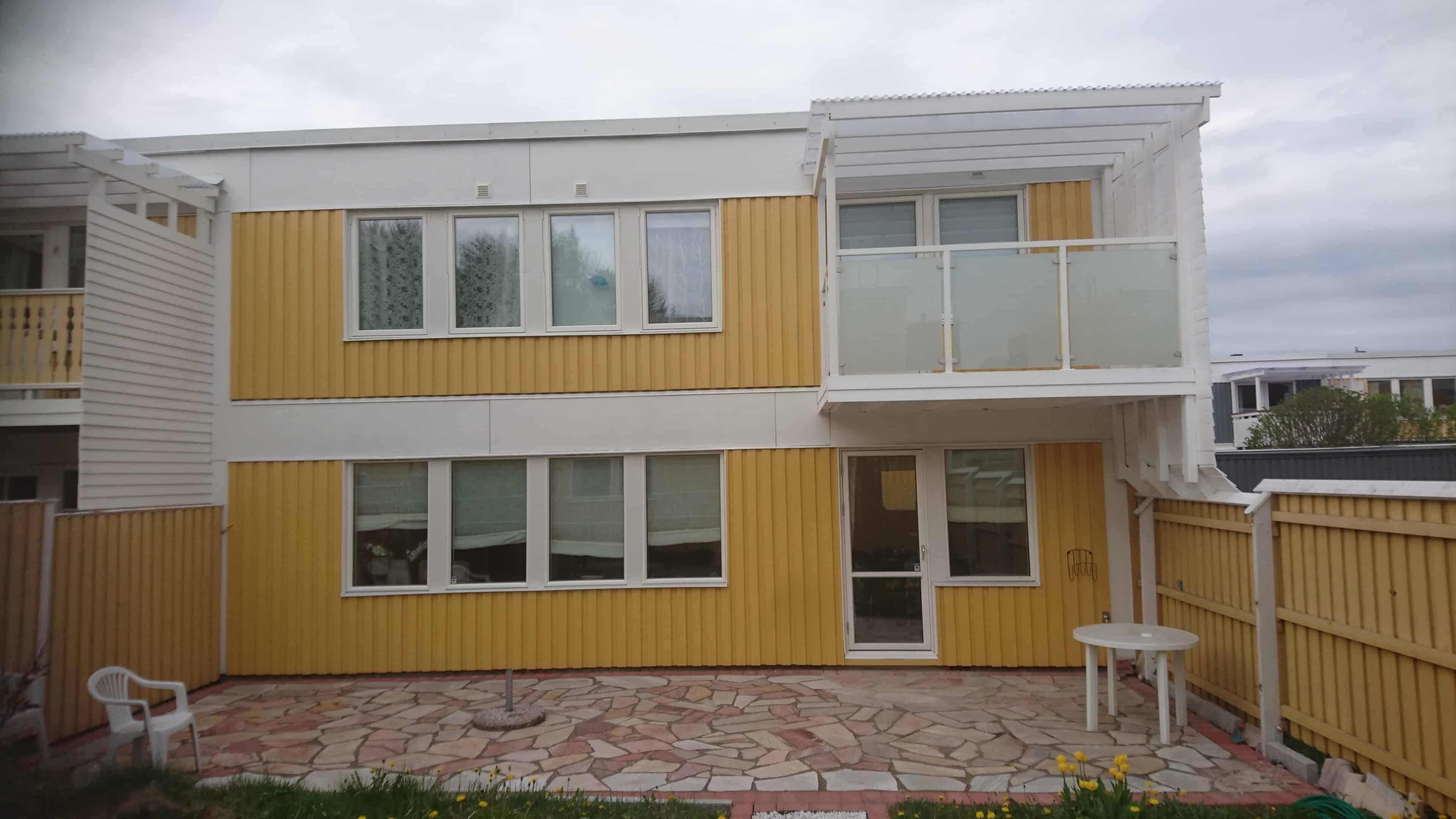 """Referensjobb """"Fasadrenovering"""" utfört av Ollender Bygg"""
