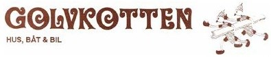 Logotyp för Golvkotten Hus, båt och bil