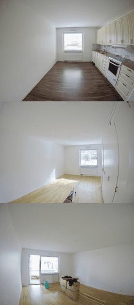 """Referensjobb """"Målning av lägenhet, slutresultat"""" utfört av Mineur fastigheter AB"""