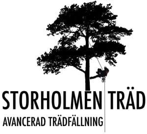 Logotyp för Storholmen Träd AB