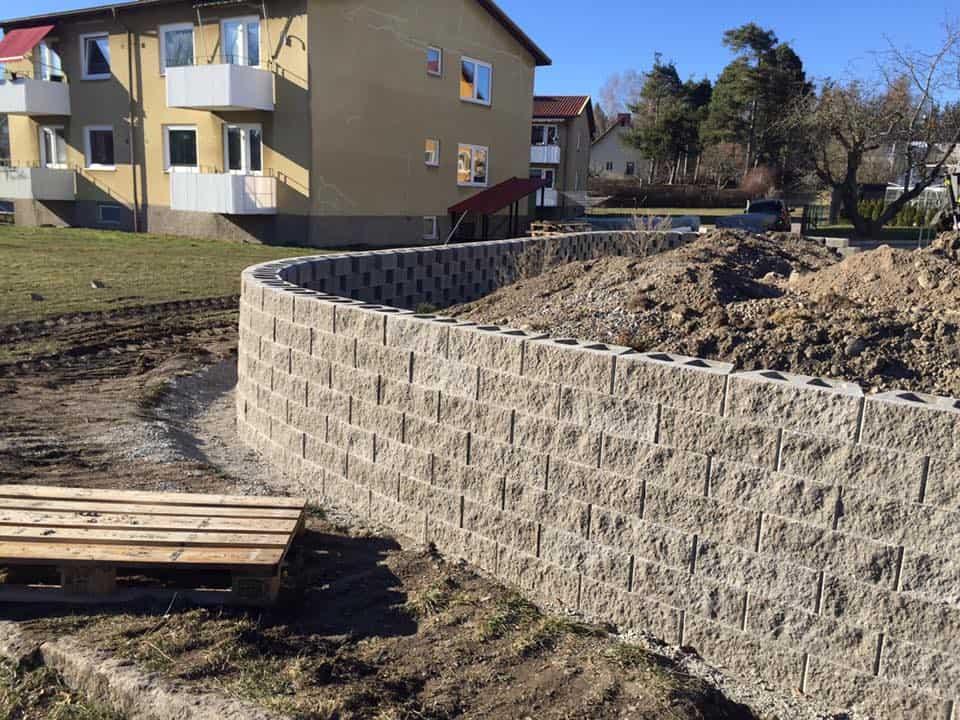 """Referensjobb """"Mur"""" utfört av MLS Alltjänst & Byggservice"""
