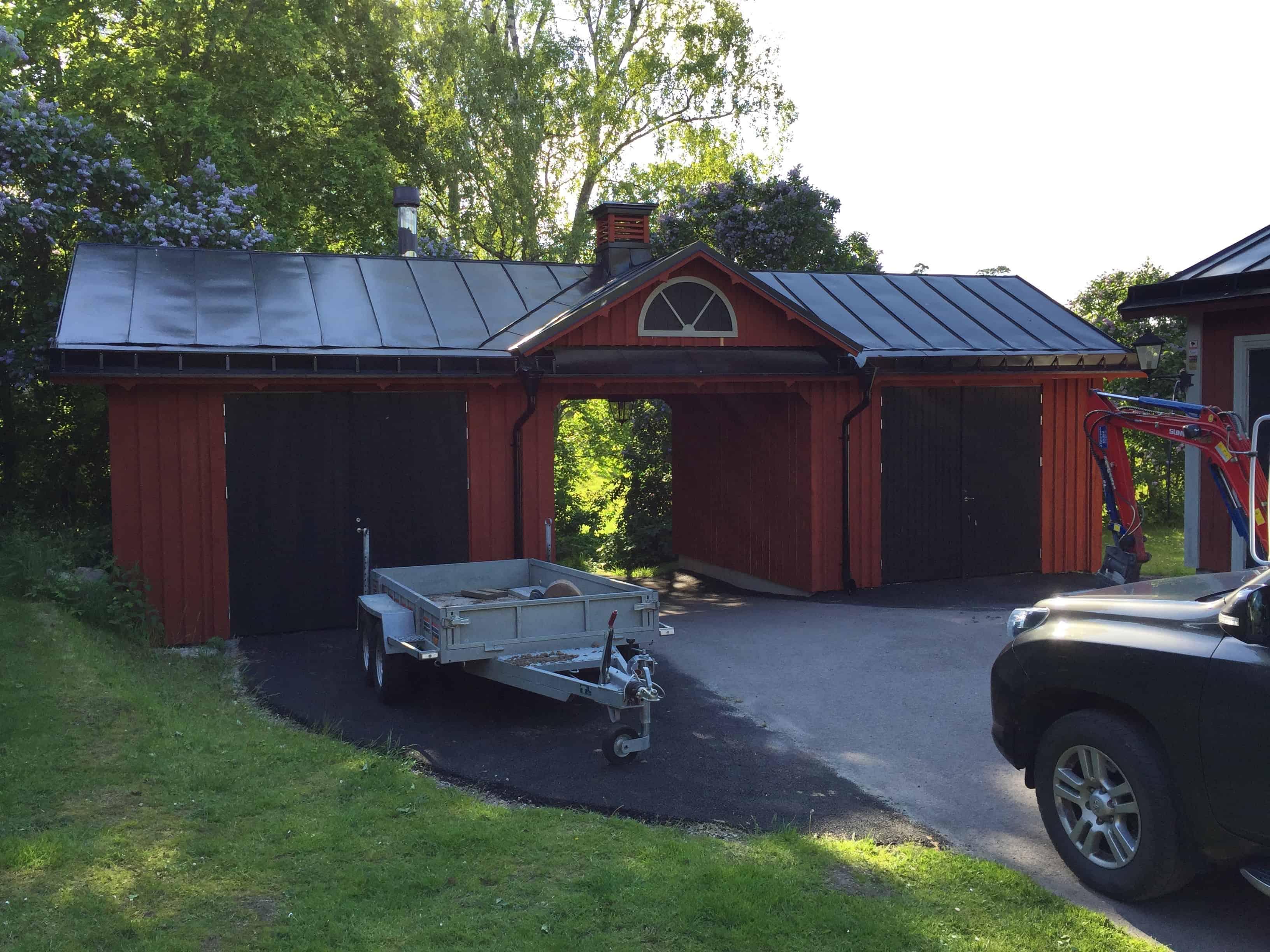 """Referensjobb """"Garage tak"""" utfört av Rhel-gruppen AB"""