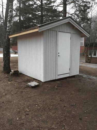 """Referensjobb """"Byggnation av bod"""" utfört av RKS Mark & Trädgård AB"""