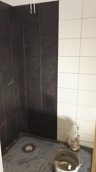"""Referensjobb """"Badrumsrenovering Pantarholmen 4b"""" utfört av Blekinge Snickeri & Kakel AB"""