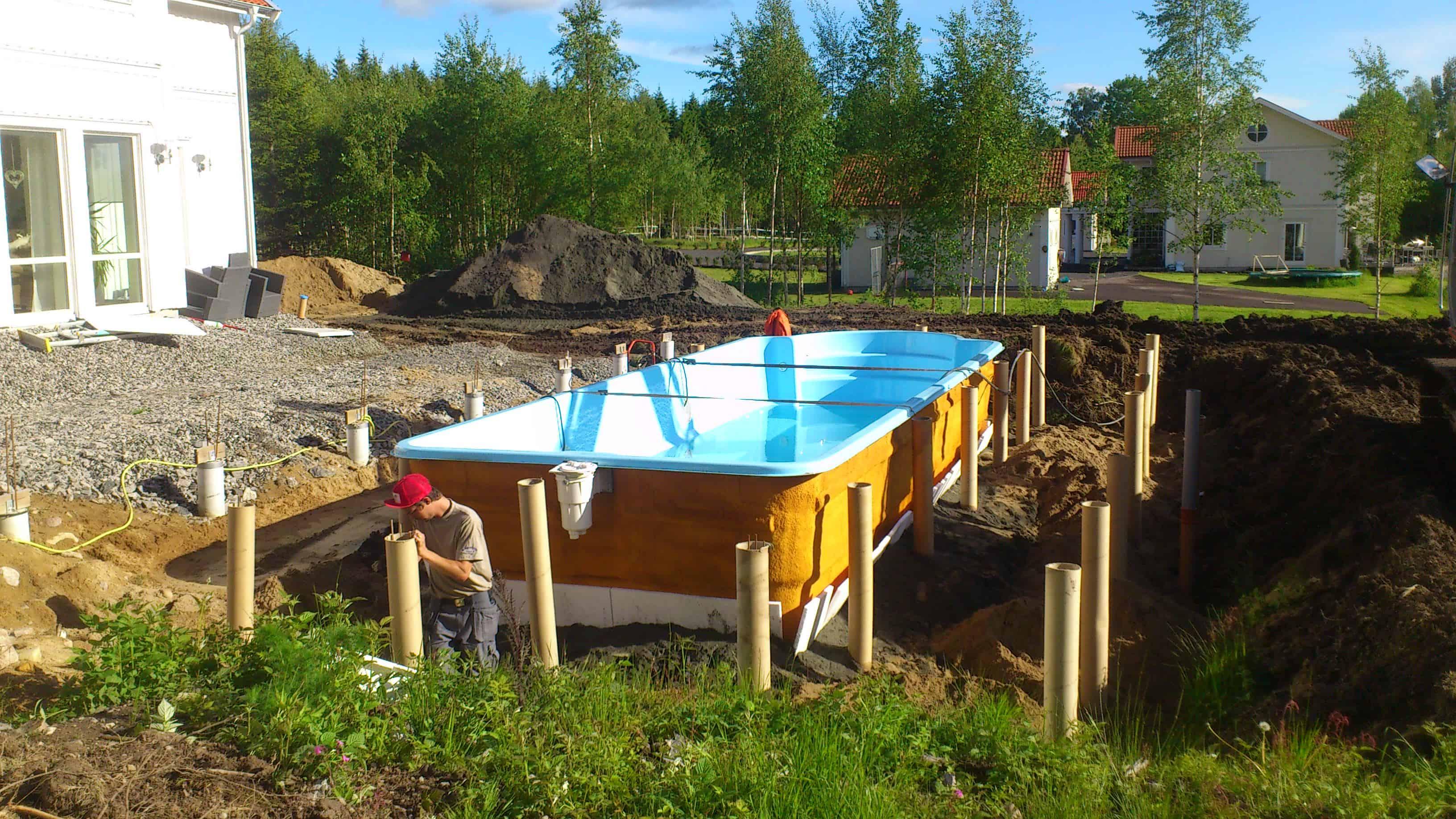 """Referensjobb """"Inbyggd pool 1"""" utfört av Skiveds Bygg & Montage"""
