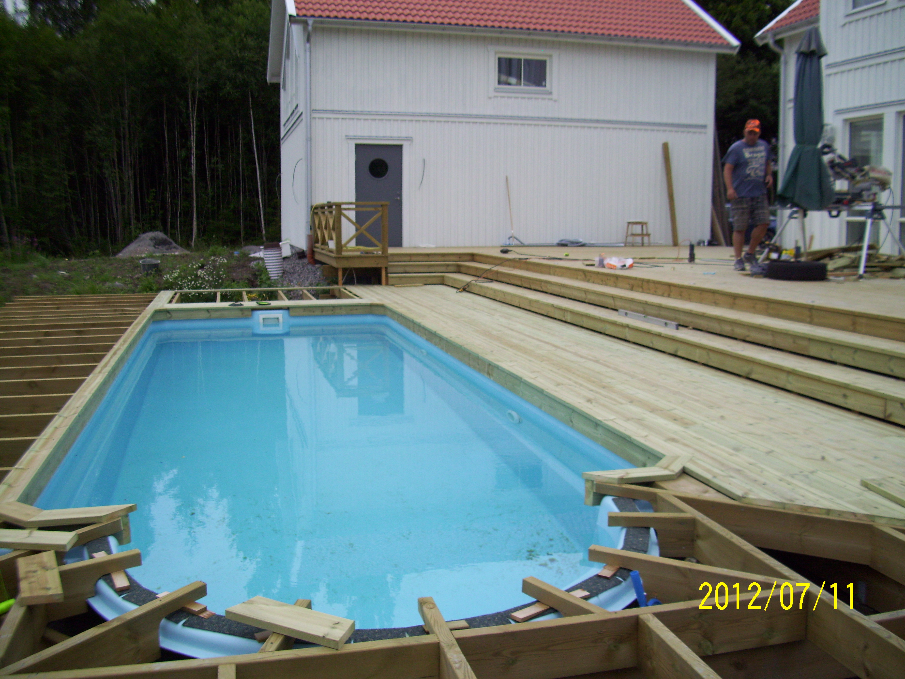 """Referensjobb """"Inbyggd pool 2"""" utfört av Skiveds Bygg & Montage"""