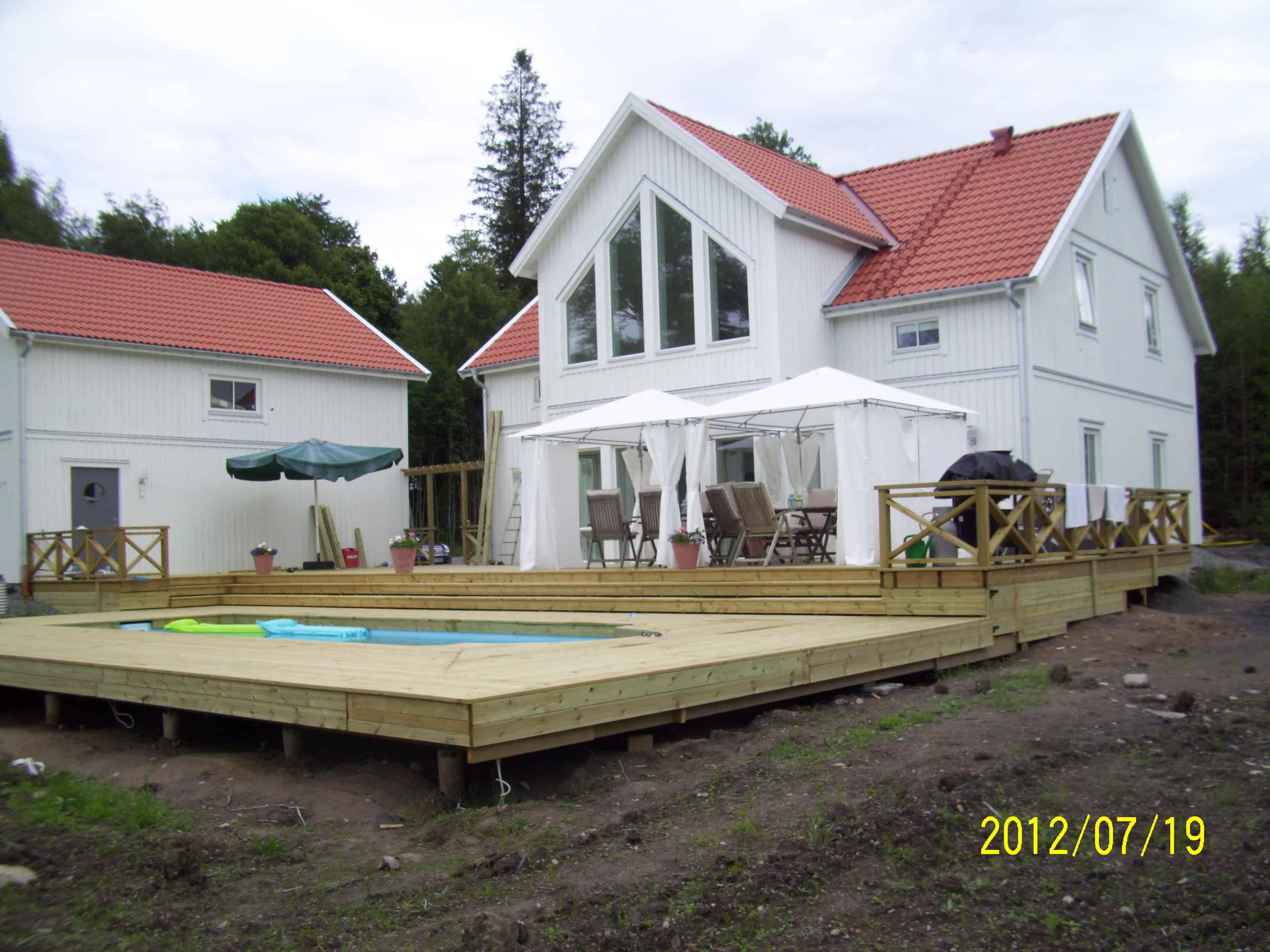 """Referensjobb """"Innbygd pool slutresultat 4"""" utfört av Skiveds Bygg & Montage"""