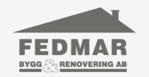 Logotyp för Fedmar Bygg & Renovering AB