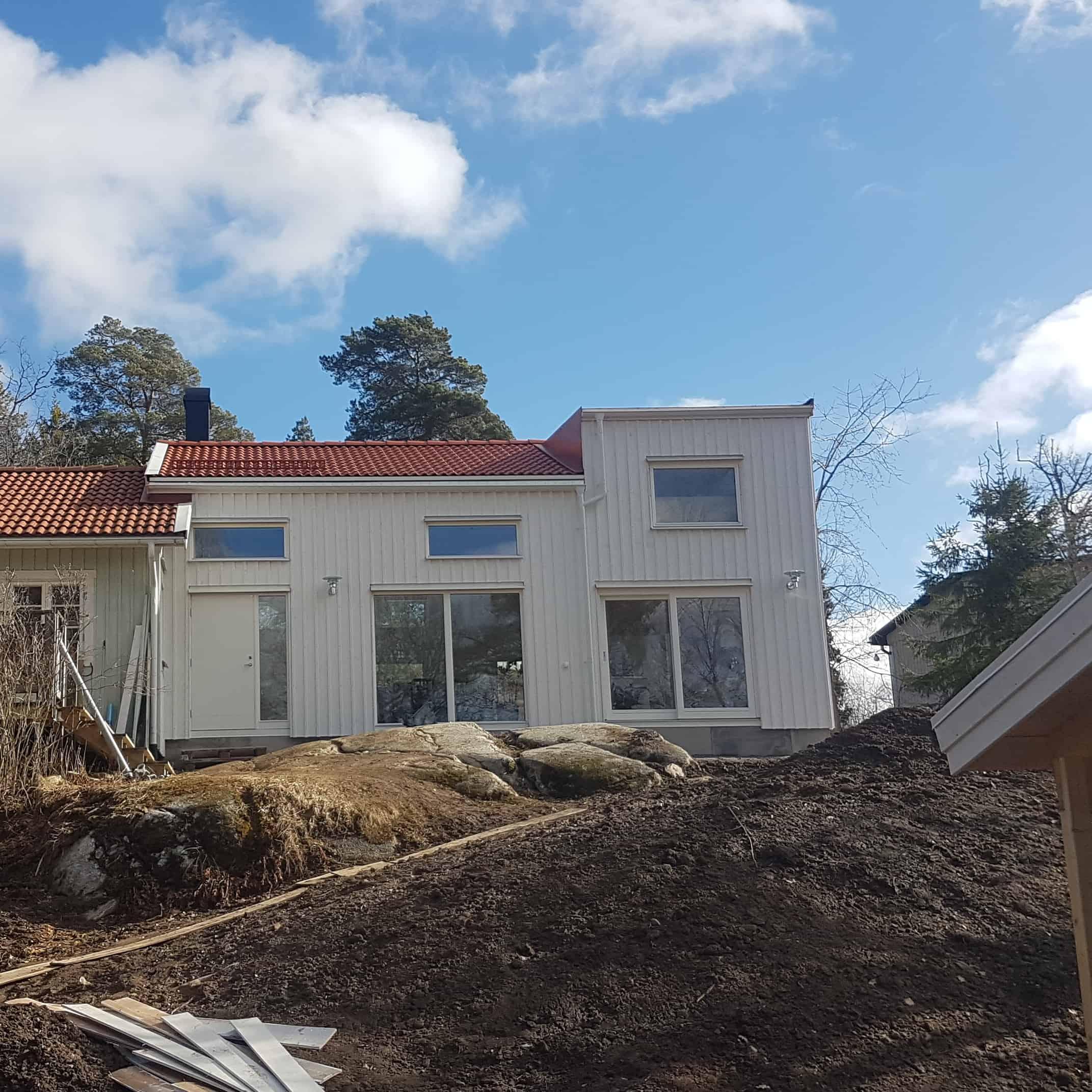 """Referensjobb """"Tillbyggnad av villa"""" utfört av MT Enström Bygg & Våtrum AB"""