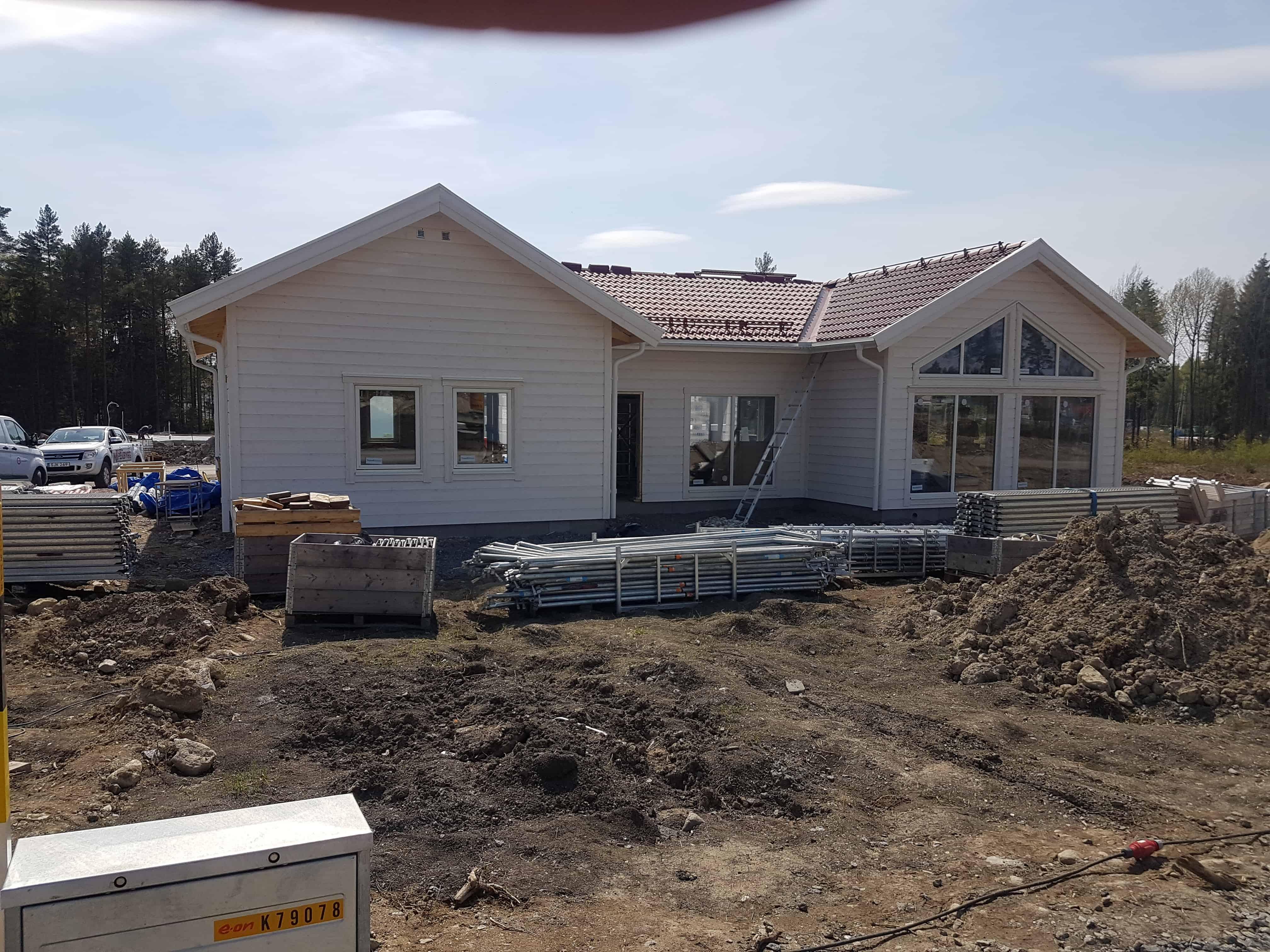 """Referensjobb """"Nyproduktion av villa"""" utfört av MT Enström Bygg & Våtrum AB"""