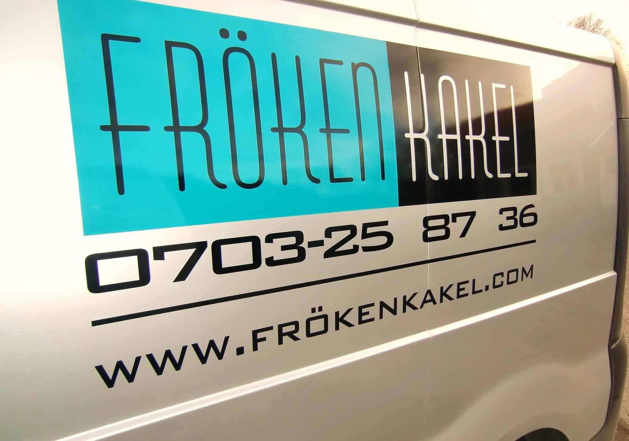 Logotyp för Fröken Kakel Göteborg AB