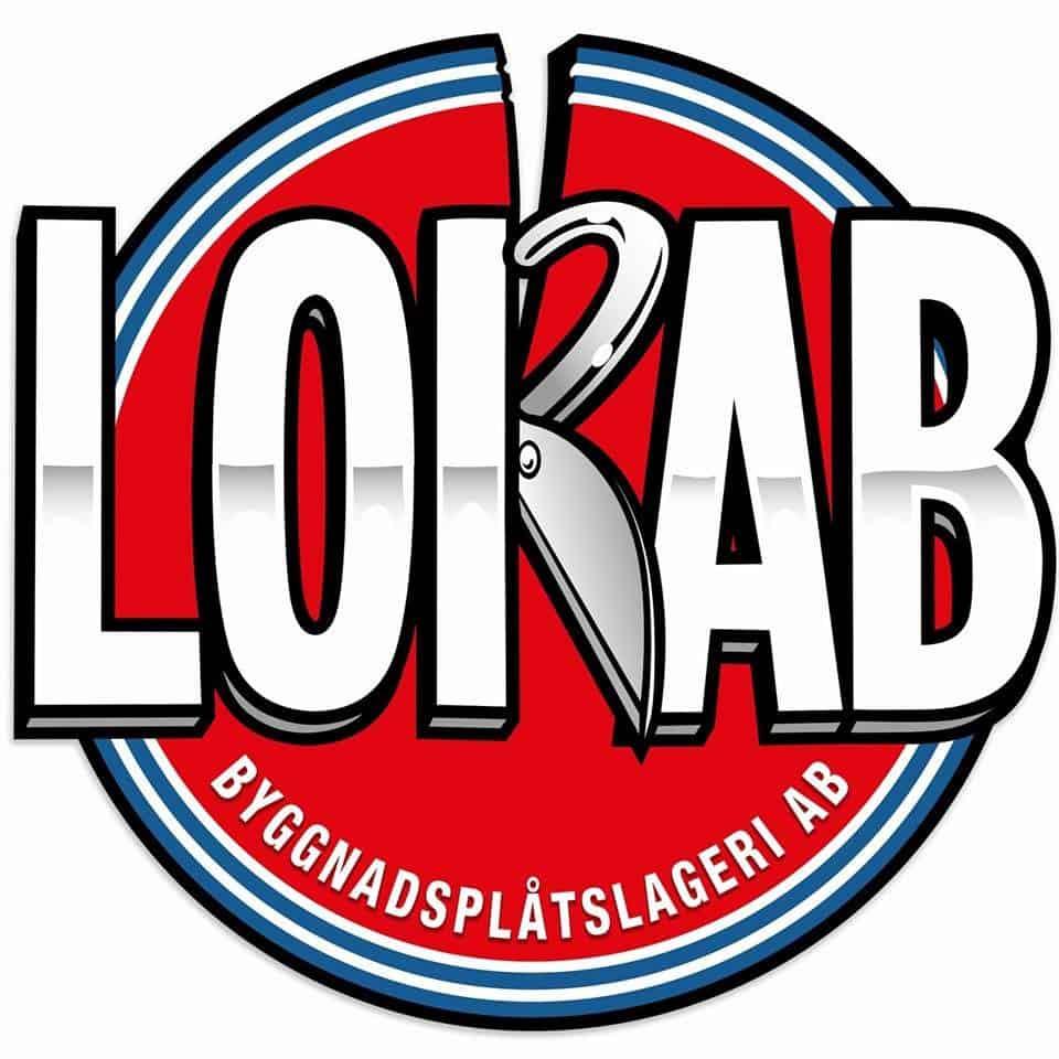 Logotyp för Lorab Byggnadsplåtslageri AB