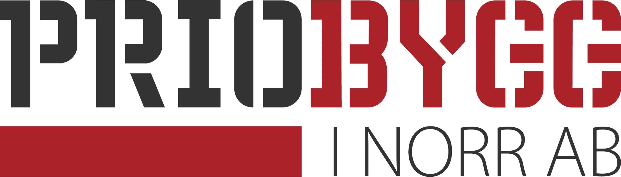Logotyp för Prioris Bygg i Norr AB