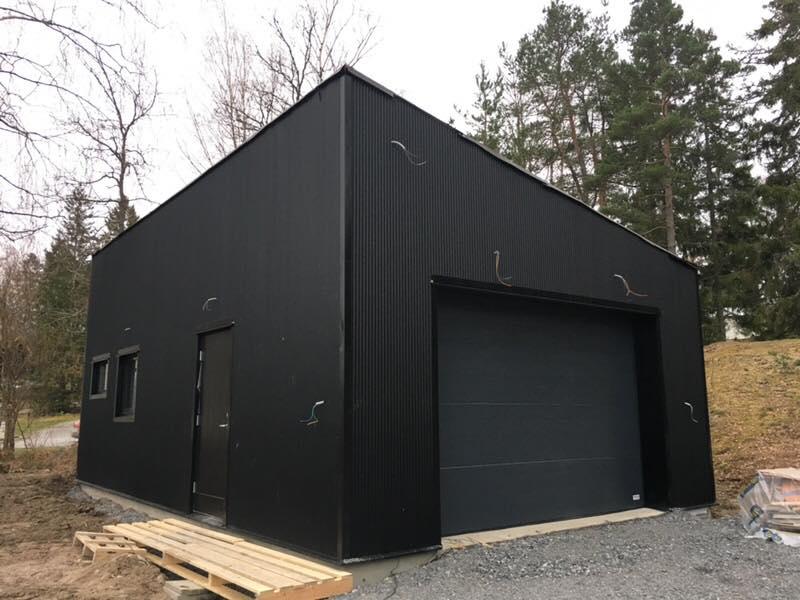 """Referensjobb """"Garage som vi har byggt på Värmdö."""" utfört av AM.Mellin AB"""