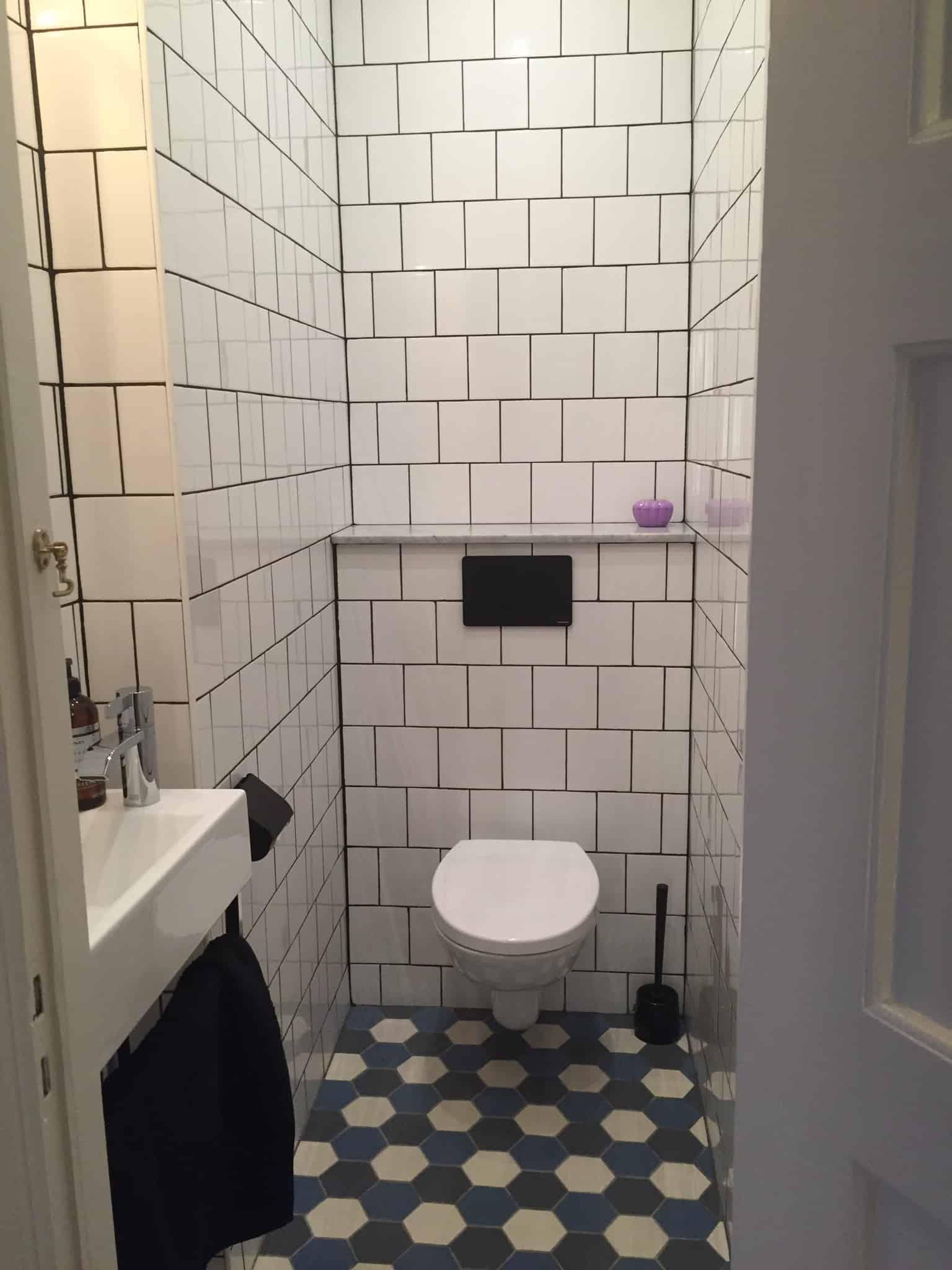 """Referensjobb """"Renovering av wc """" utfört av Evangelos Hantverksföretag"""