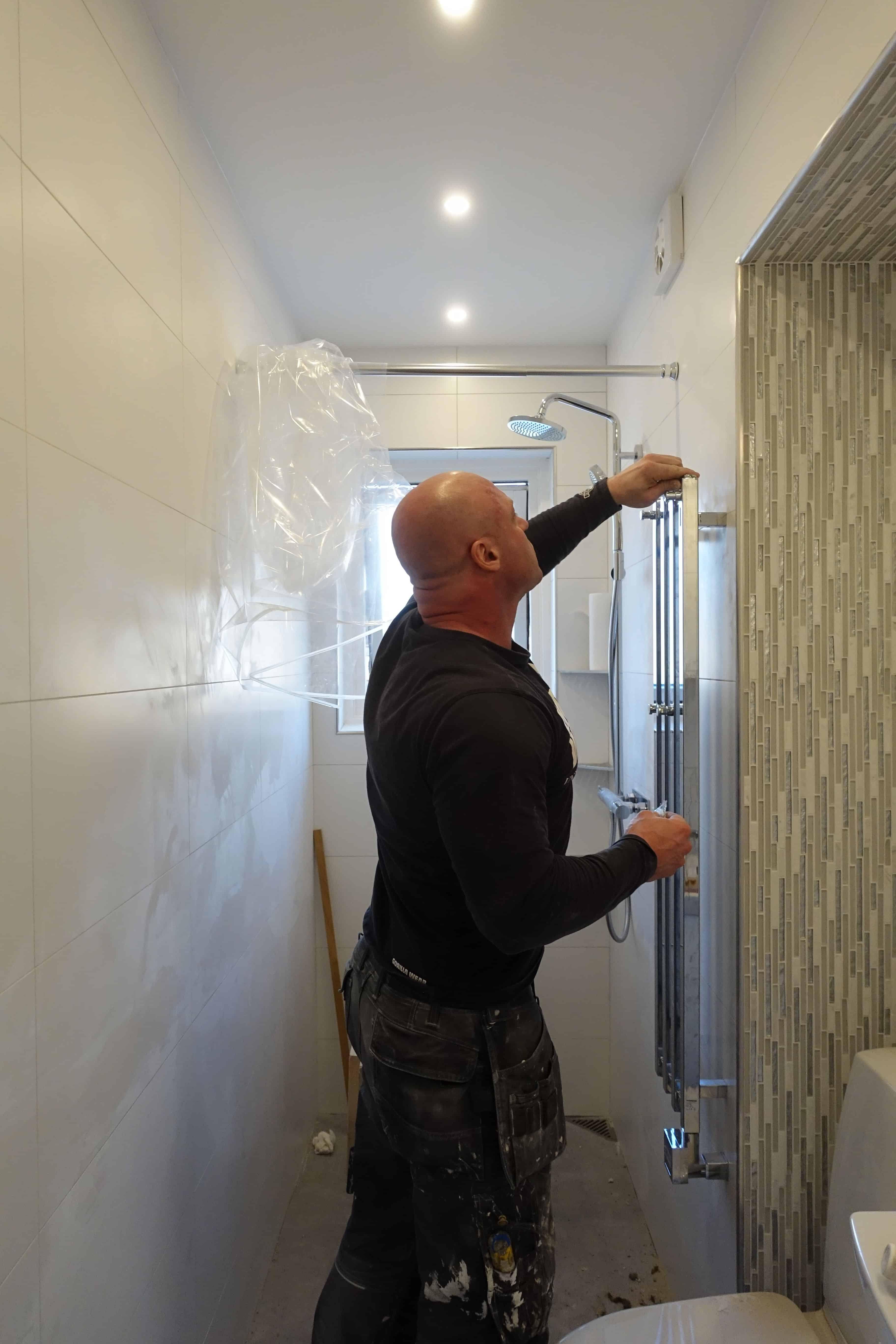 """Referensjobb """"Helrenovering av badrum (fler bilder finns på www.hermanmurare.se)"""" utfört av Herman Murare"""