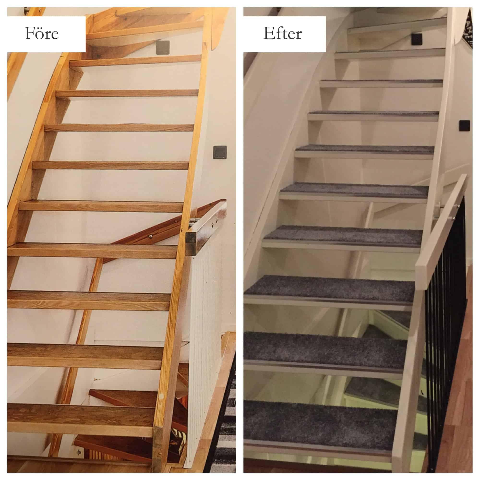"""Referensjobb """"Renovering av trappor"""" utfört av MFD (Måleri och Fastighetsskötsel Denis)"""
