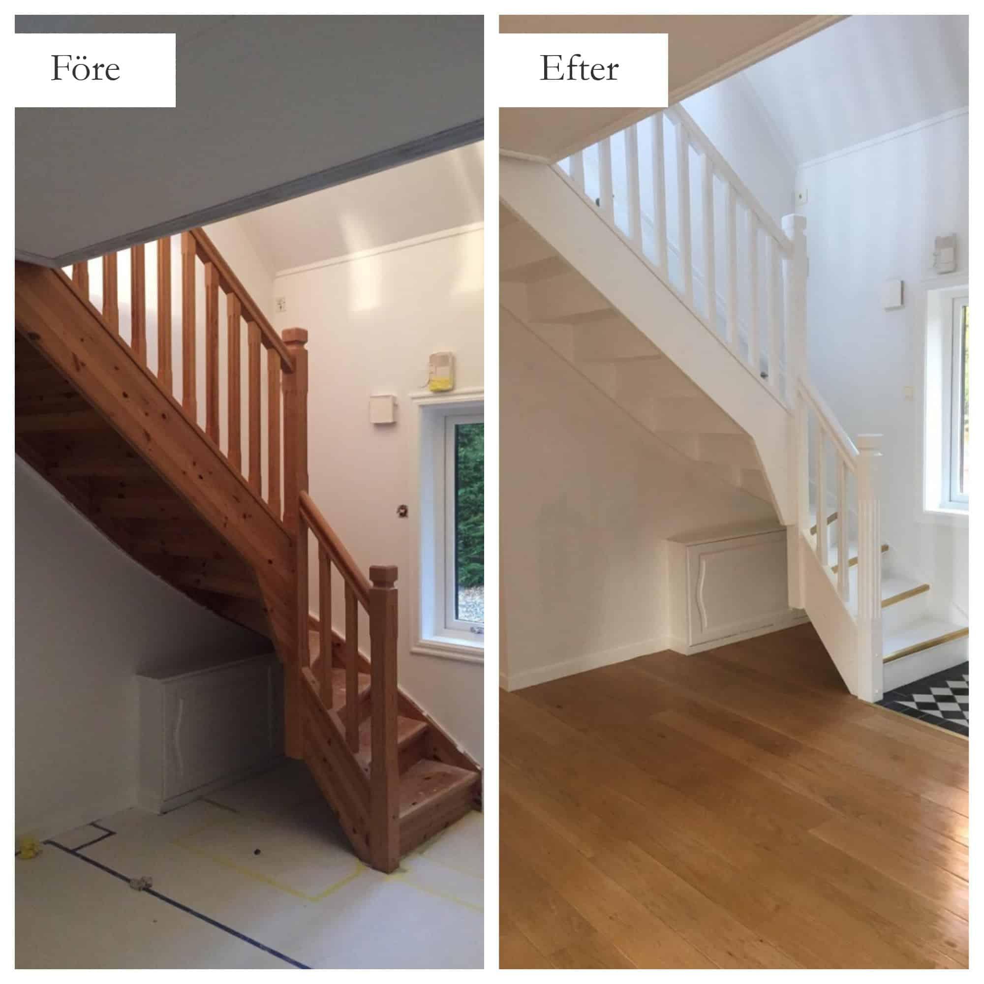 """Referensjobb """"Renovering av trappor 2"""" utfört av MFD (Måleri och Fastighetsskötsel Denis)"""