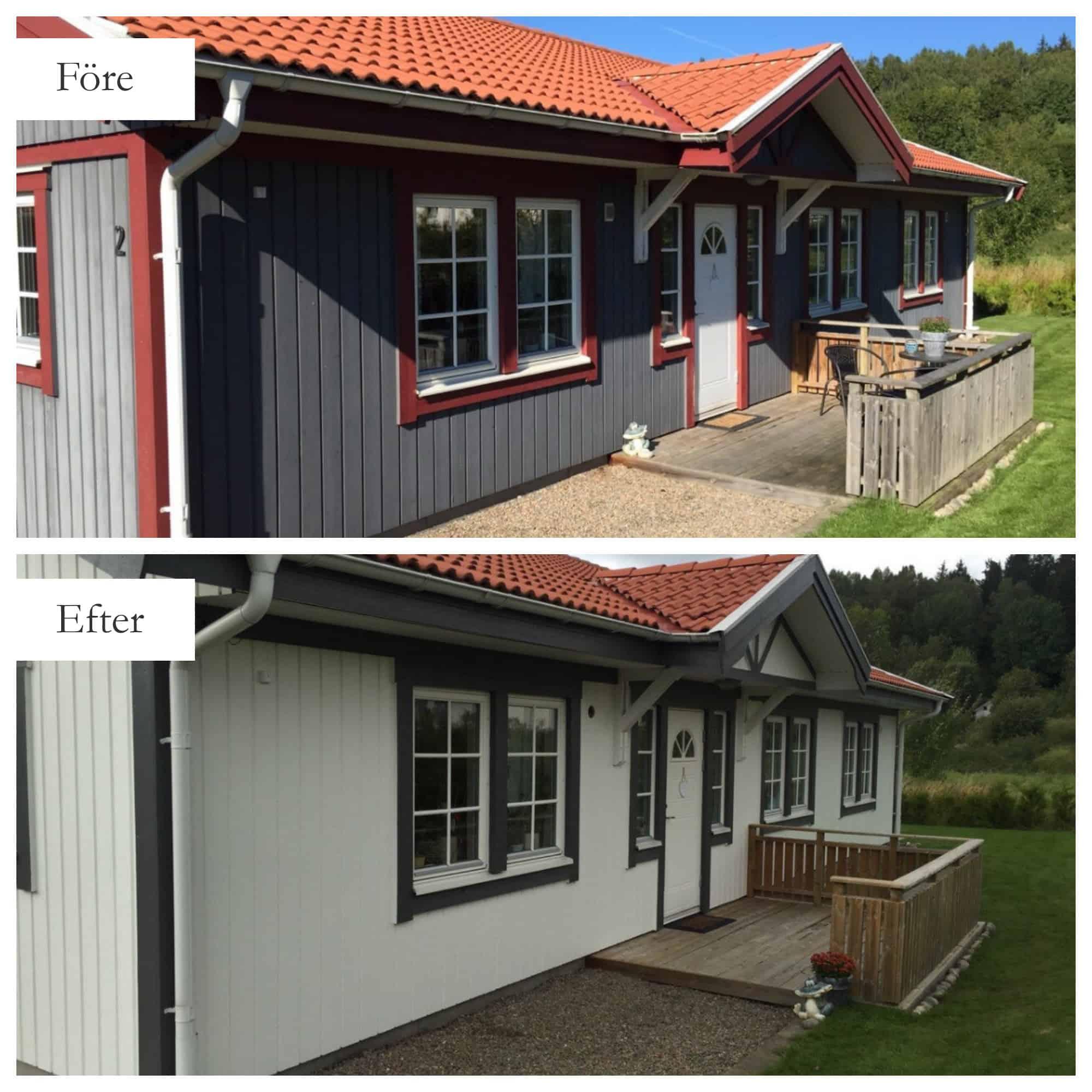 """Referensjobb """"Fasadtvätt & fasadmålning """" utfört av MFD (Måleri och Fastighetsskötsel Denis)"""