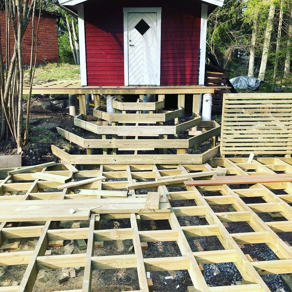 """Referensjobb """"Förberedning för trapp till altandäcket """" utfört av Evangelos Hantverksföretag"""
