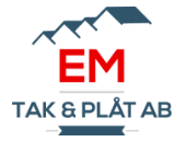 Logotyp för EM TAK & PLÅT AB