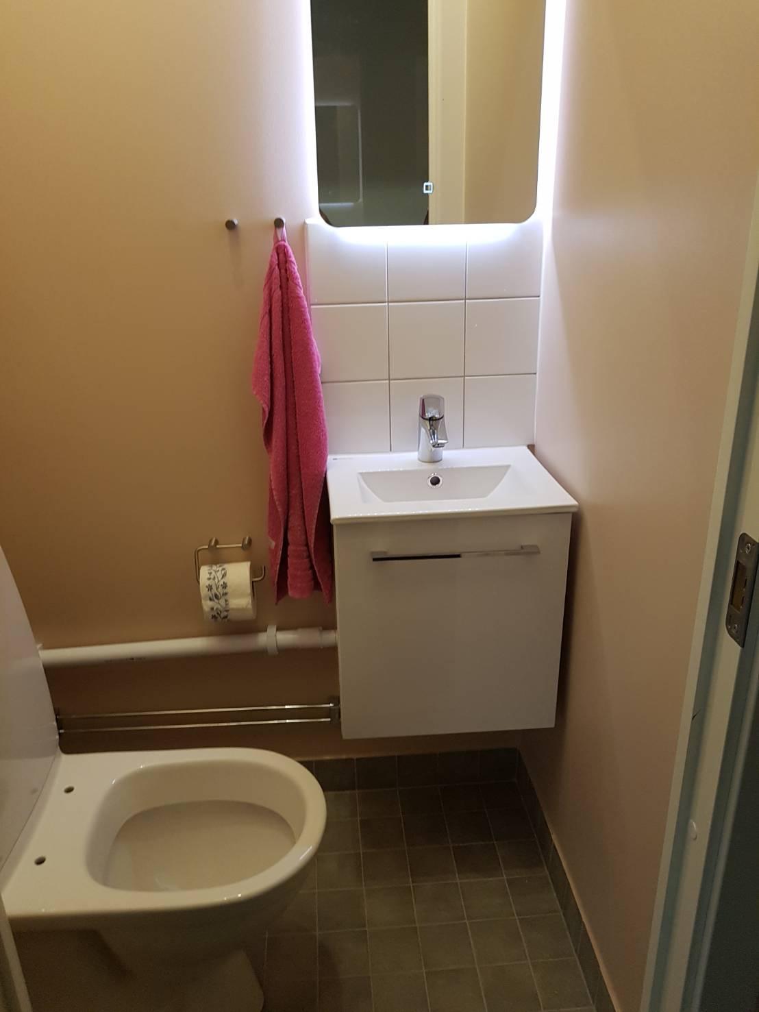 """Referensjobb """"Bygge av toalett i Stockholm"""" utfört av Bayron Group AB"""