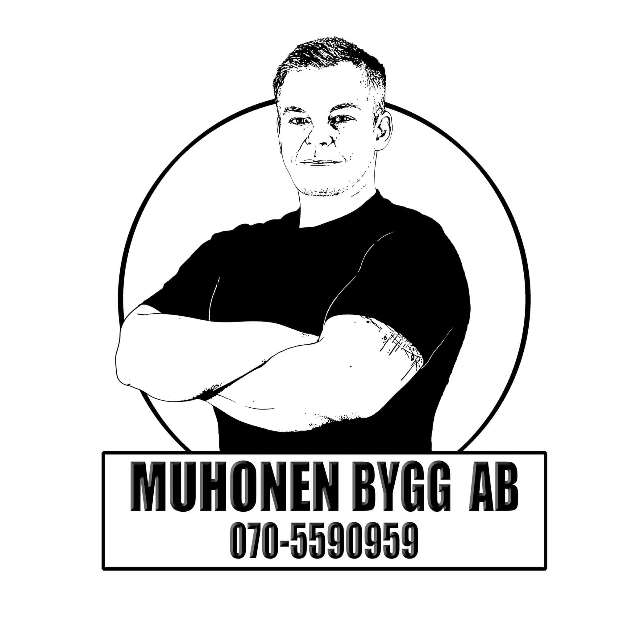 Logotyp för MUHONEN BYGG AB