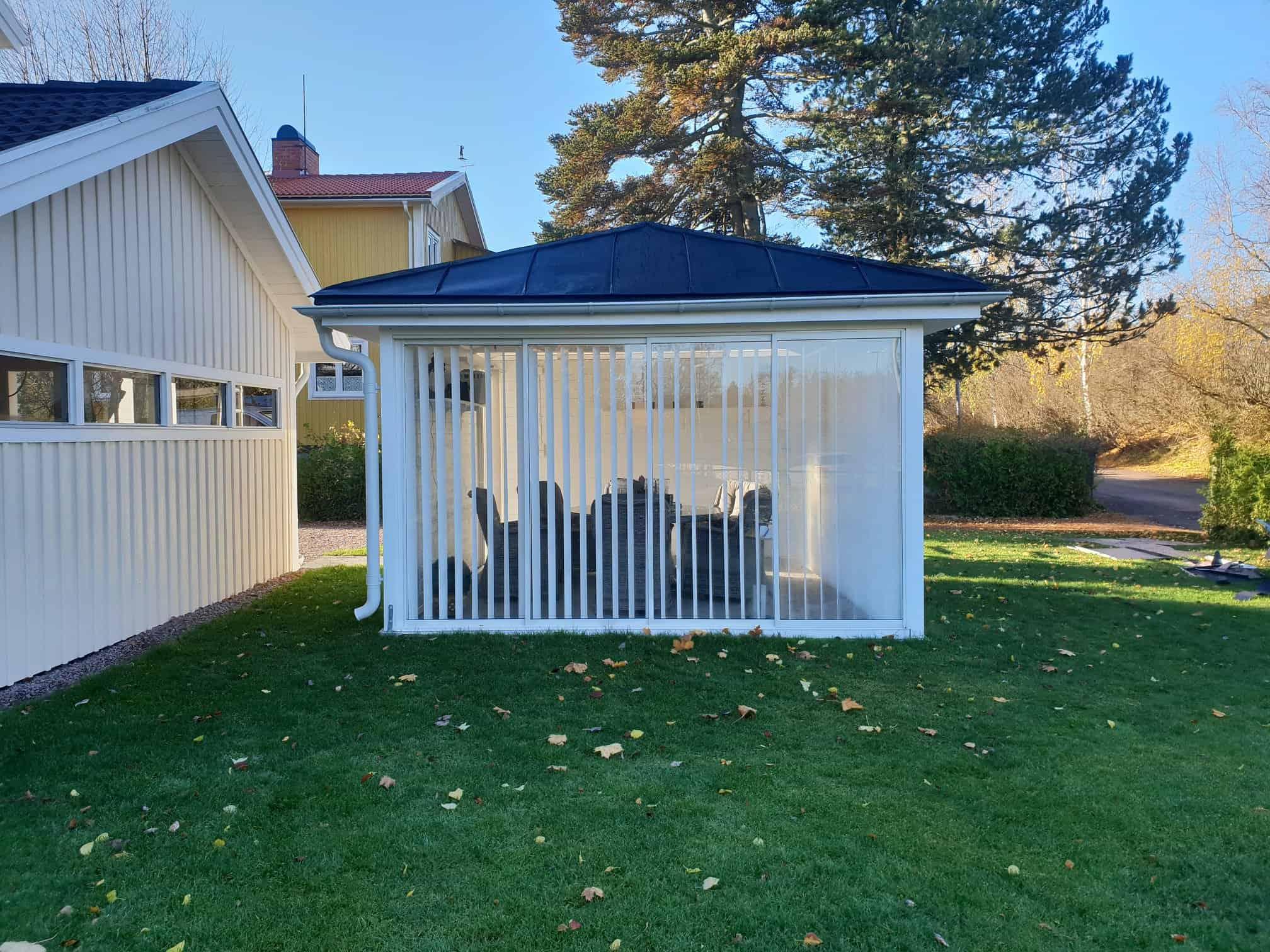 """Referensjobb """"Uterums tak"""" utfört av VB PLÅT AB"""