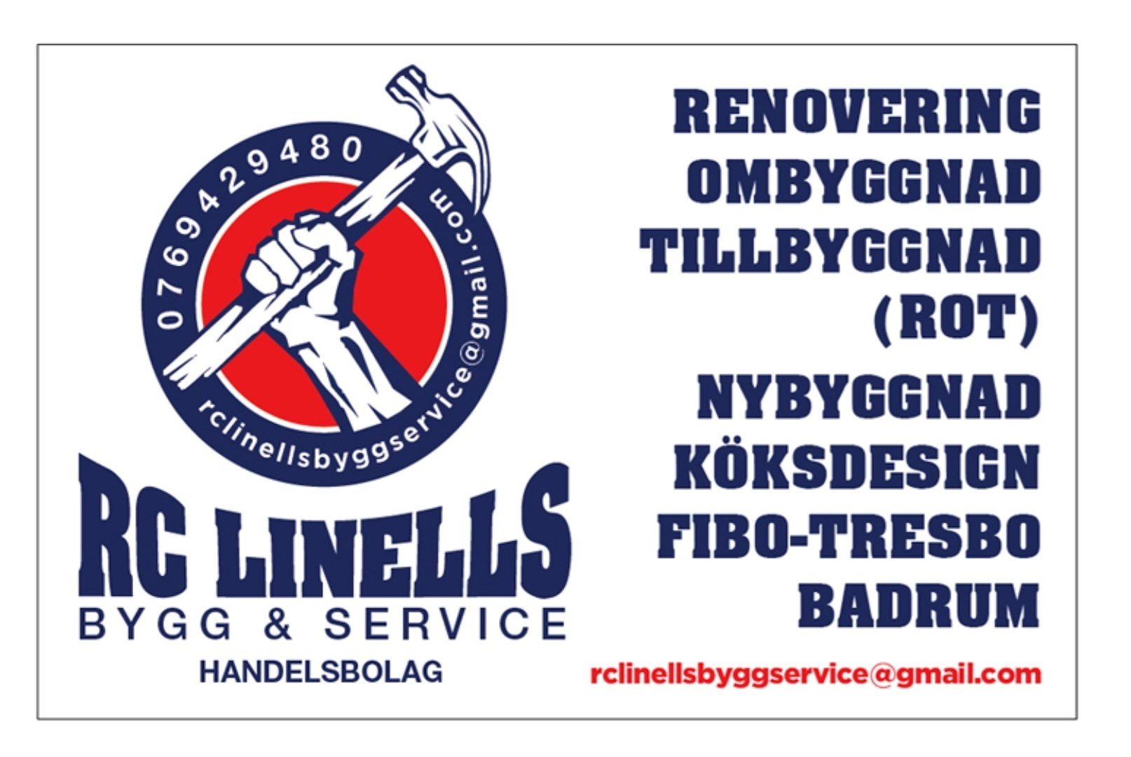 Logotyp för RC Linells Bygg & Service Handelsbolag