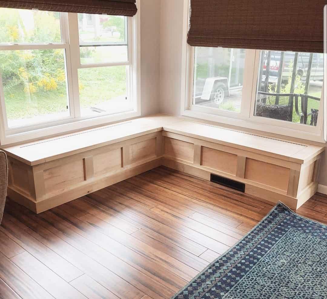 """Referensjobb """"Platsbyggd sittbänk"""" utfört av RC Linells Bygg & Service Handelsbolag"""