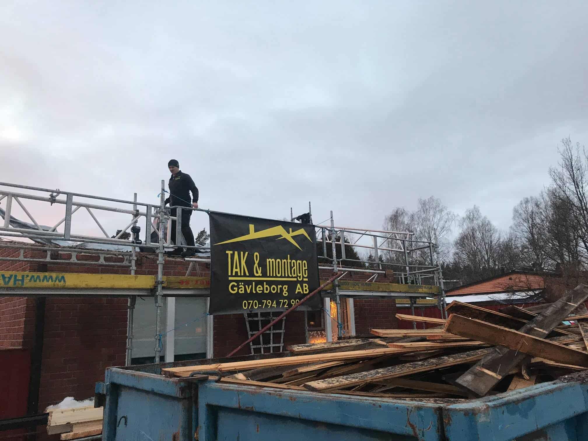 "Referensjobb ""."" utfört av Tak & Montage gävleborg AB"