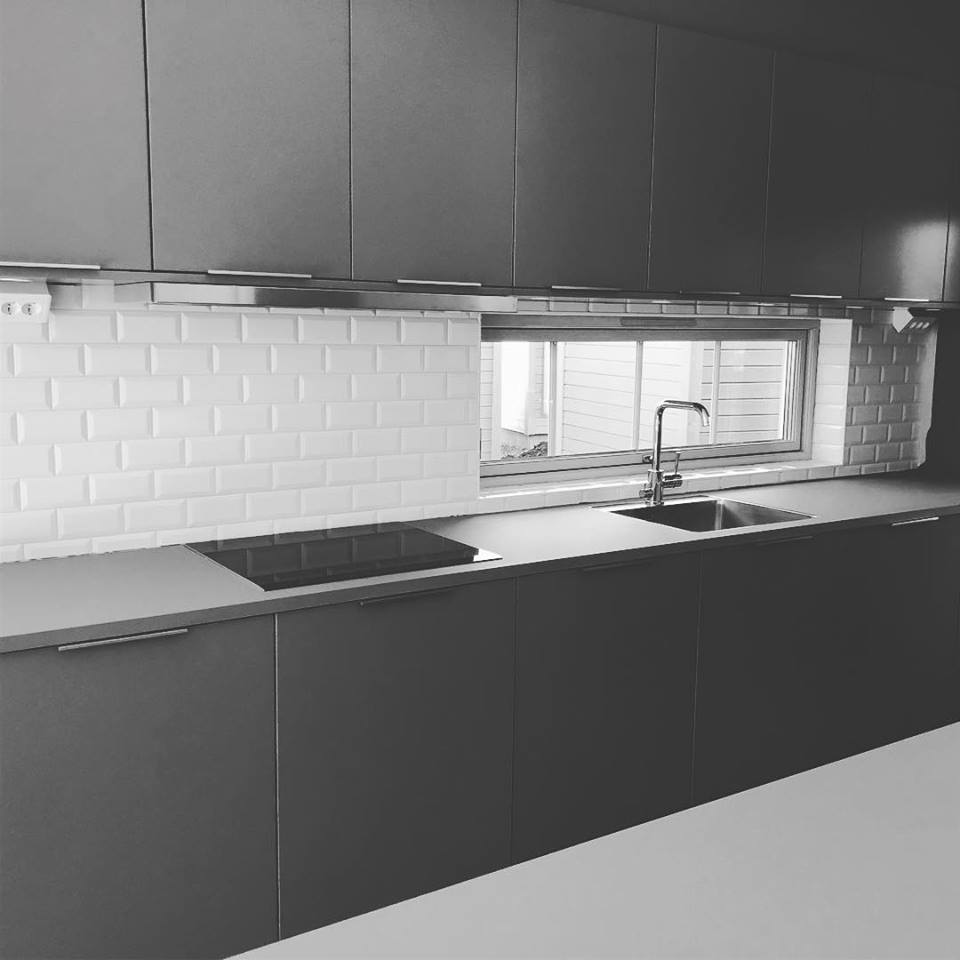 """Referensjobb """"Plattsättning i ett nytt kök"""" utfört av Byggamore AB"""