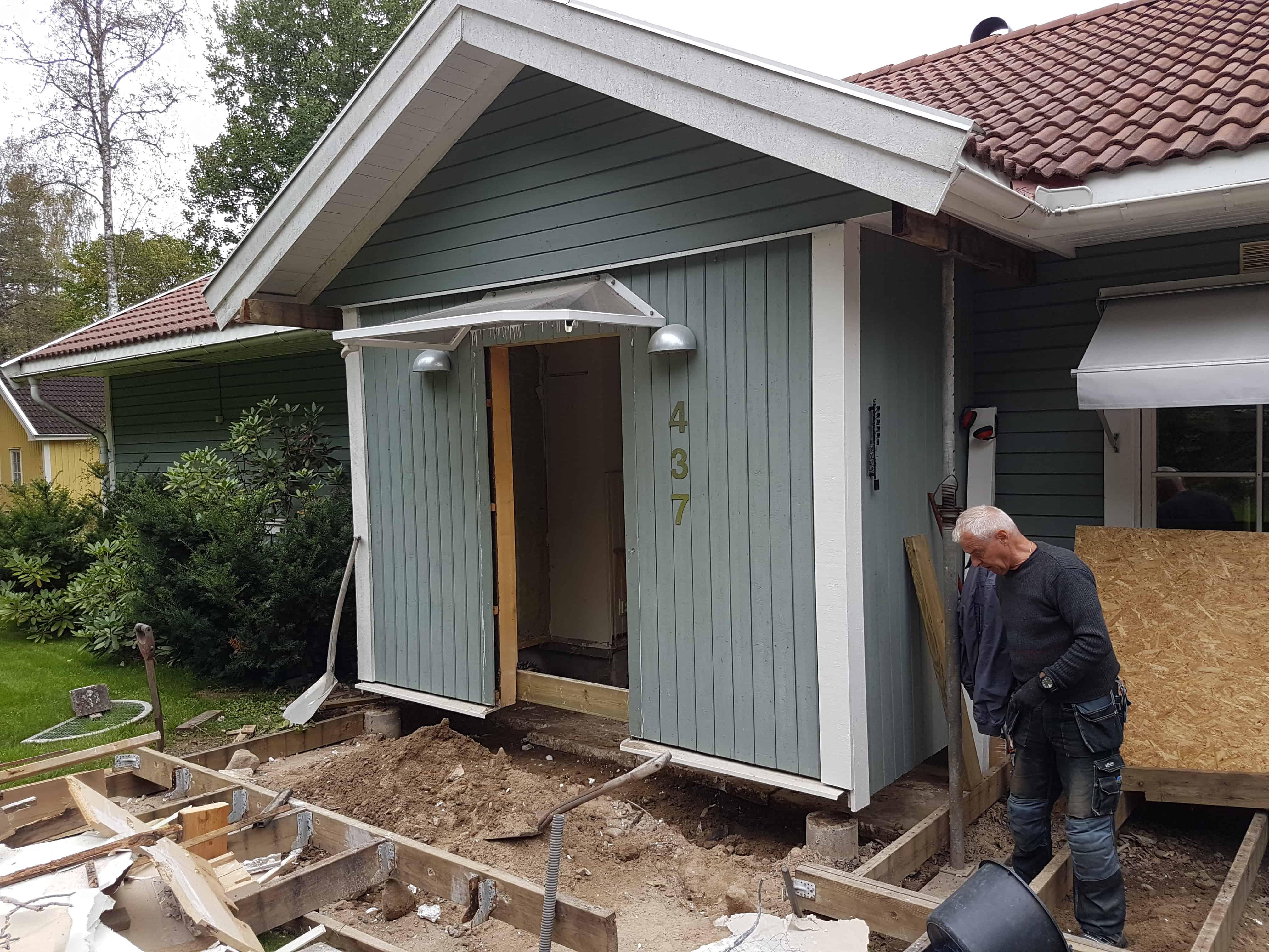 """Referensjobb """"Renovering av farstukvist"""" utfört av Skiveds Bygg & Montage"""
