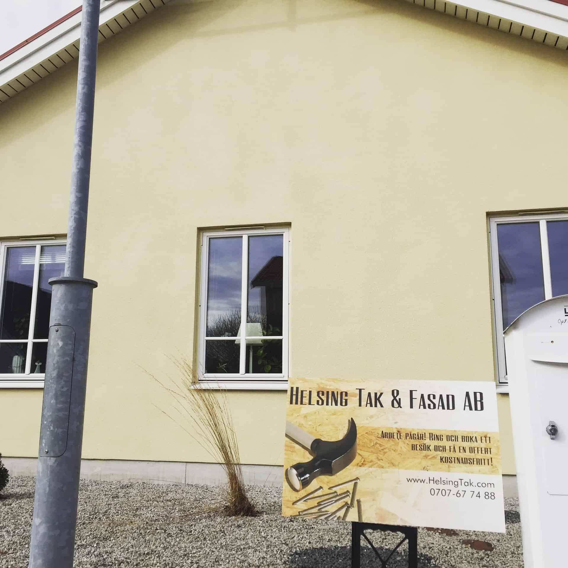 """Referensjobb """"Renovering på gång..."""" utfört av Helsing Tak & Fasad AB"""