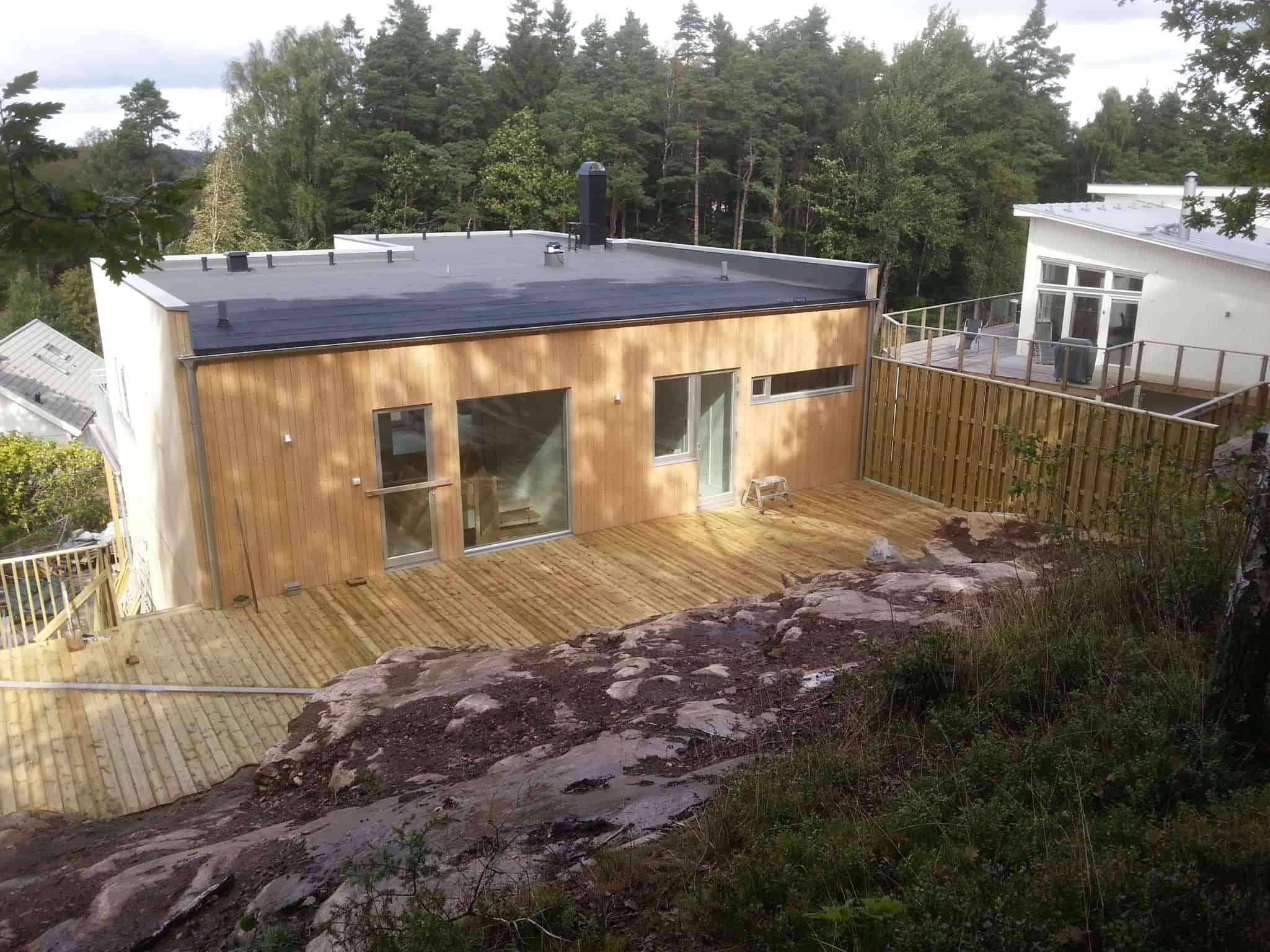 """Referensjobb """"Hus +altan"""" utfört av Byggfirma Hans Johansson i Borås"""