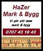 Logotyp för Hazer Mark, Bygg & Entrepenad AB